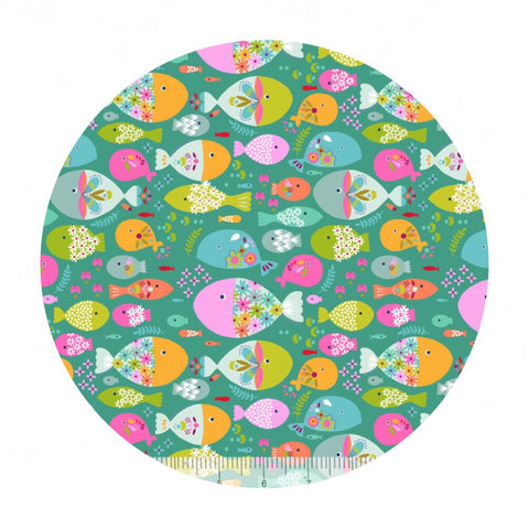 Swimming with the Fishes Green - Go Fish Collection - Blend Fabrics