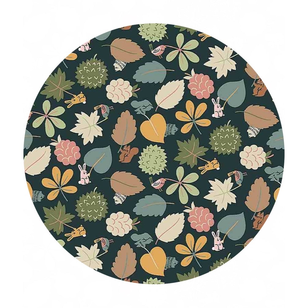 Leaf Wavers in Charcoal - Fawned of You Collection - Dear Stella Fabrics