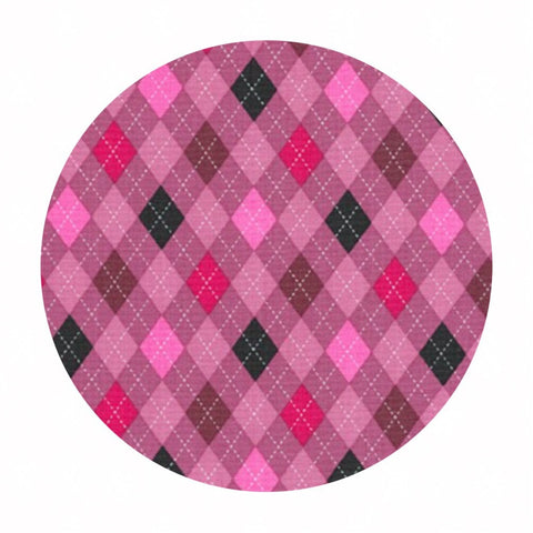 Argyle in Pink - Classy Canines Collection - Robert Kaufman Fabrics