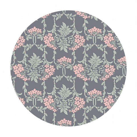 Nouveau Mayflower in Gray/Pink - The Hesketh House Collection - Liberty Fabrics