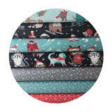 Winter Furries in Blue - Snowlandia Collection - Blend Fabrics