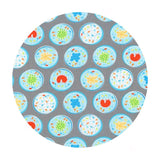 Petri Dishes in Gray - Science Fair Collection- Robert Kaufman Fabrics