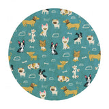 Woof Woof Meow in Turquoise - Woof Woof Meow Collection - Moda Fabrics