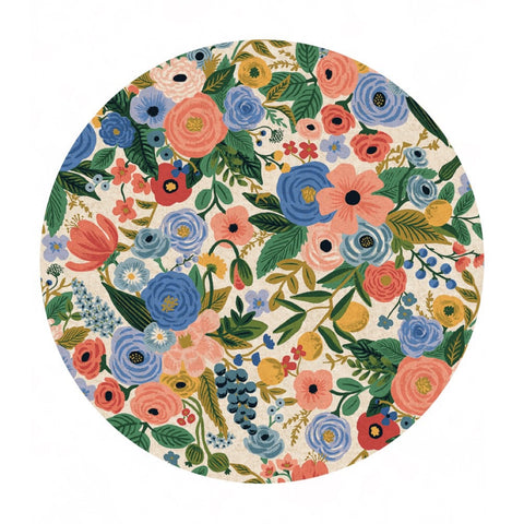 Garden Party in Blue Canvas - Wildwood by Rifle Paper Co. - Cotton + Steel Fabrics