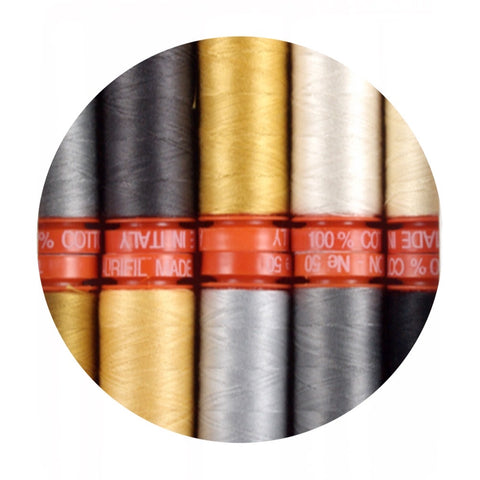 Aurifil Thread - Bee Joyful Collection - 10 Small Spools Cotton 50WT