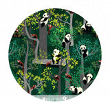 2.5 meters left! - Bamboo Eaters in Green - Panda Forest Collection - Blend Fabrics