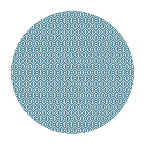 .5 meters left! - Hexagon Aqua - Lost & Found 2 Collection - Riley Blake Designs
