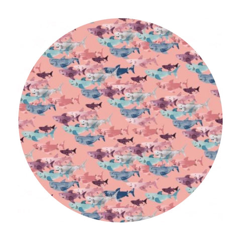 Shark Frenzy in Shell - Kaikoura Collection - Calli & Co. - Cotton + Steel Fabrics