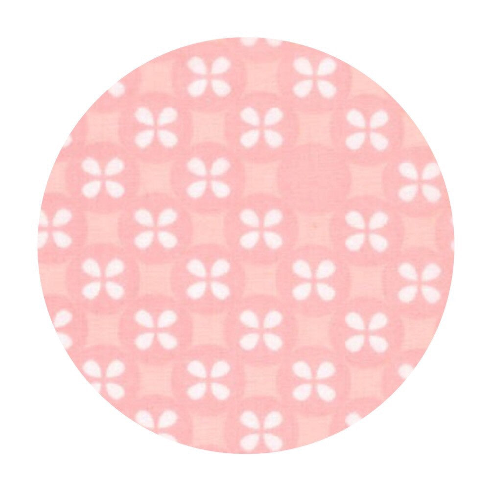 Flower Dot Double Gauze in Pink - Little Prints Double Gauze - Robert Kaufman Fabrics