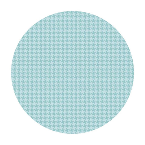 2.5 meters left! - Houndstooth in Turquoise - Dog Gone It Collection - Camelot Fabrics