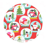 Christmas Carolers Red - Even a Mouse Collection - Blend Fabrics