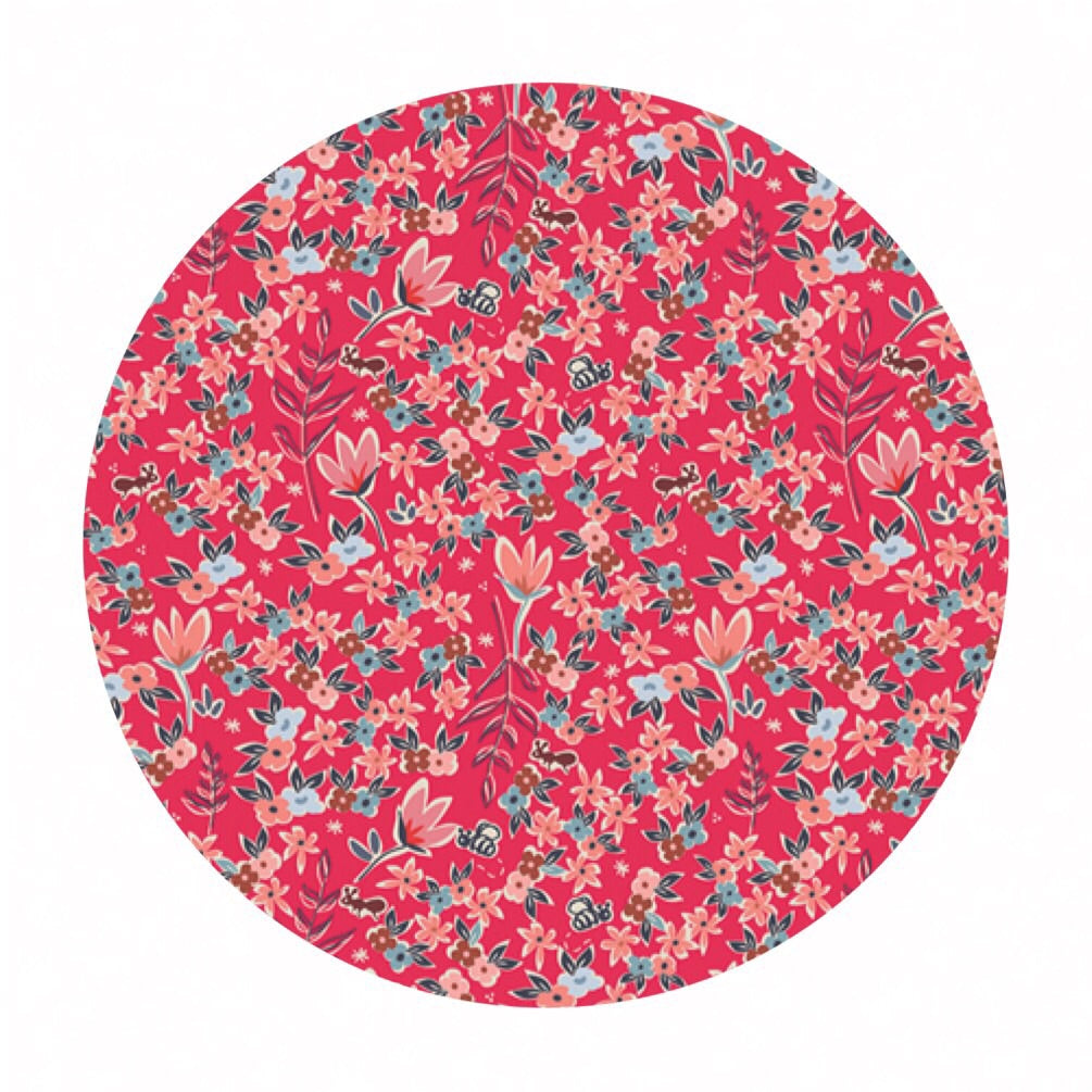 Garden of Dreams Rouge in Cotton - Charleston Collection - Art Gallery Fabrics