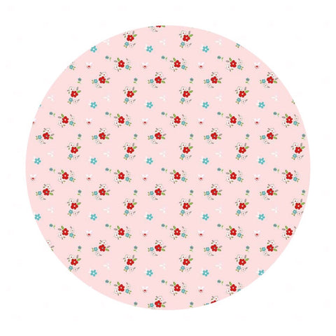Little Floral Pink in Flannel - Little Red Riding Hood Collection - Riley Blake Designs