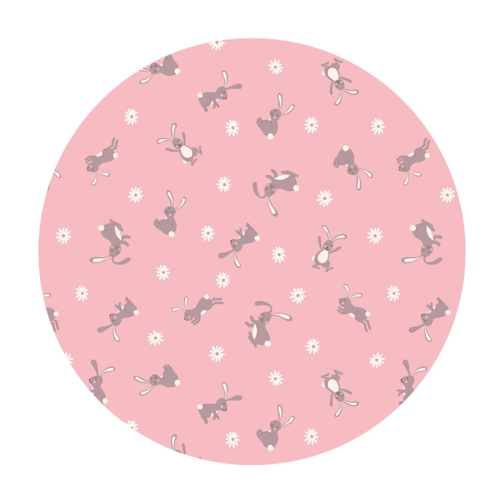 Bunnies on Pink - Bunny Hop Collection - Lewis & Irene Fabrics