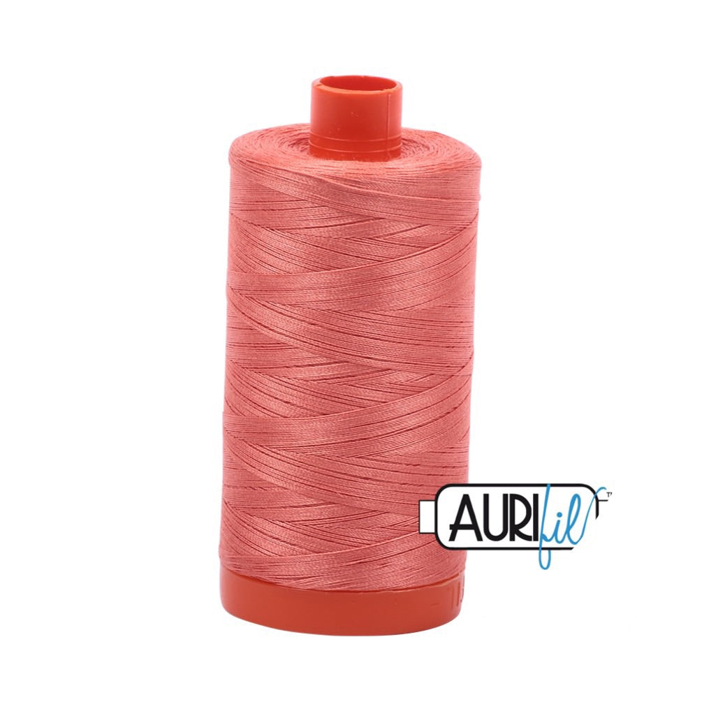 Aurifil Thread - 50wt Large Spool - 6729 Tangerine Dream