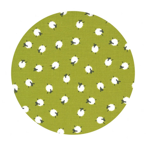 Bah Bah Baby Sheep in Green - On the Farm Collection - Moda Fabrics
