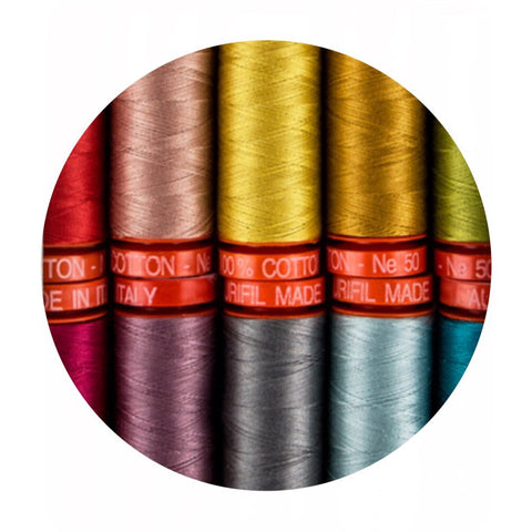 Aurifil Thread - Alison Glass Essential Collection - 10 Small Spools Cotton 50WT