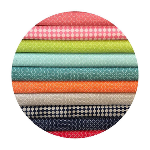 11 Fat Quarter Bundle - Mini Quatrefoil Collection - Riley Blake Designs