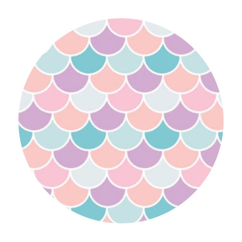 1.5 meters left! - Scallop in Pink - Very Punny Collection - Camelot Fabrics