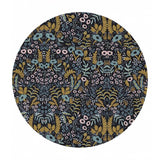 Re-stock! - Tapestry Midnight in Cotton Linen Metallic Canvas - Menagerie by Rifle Paper Co. - Cotton + Steel Fabrics
