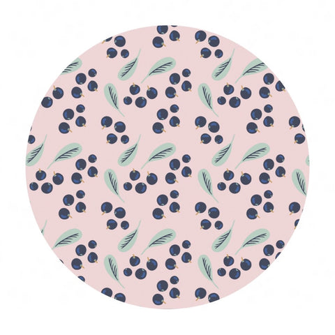 Blueberries in Pink - Berry Blossoms Collection - Camelot Fabrics