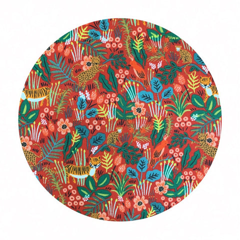 Jungle Red in Cotton - Menagerie by Rifle Paper Co. - Cotton + Steel Fabrics