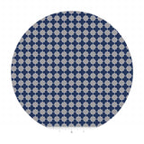 1.5 meters left! - Mini Quatrefoil Gray & Navy - Riley Blake Designs