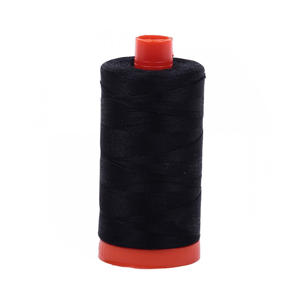 Aurifil Thread - 50wt Large Spool - Black 2692