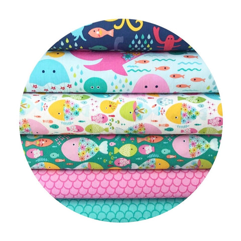 6 Piece Half Meter Bundle - Go Fish Collection - Blend Fabrics