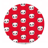 1 meter left! - Mini Pandas in Red - Urban Zoologie Minis Collection- Robert Kaufman Fabrics