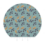 Blueberries in Teal- Berry Blossoms Collection - Camelot Fabrics