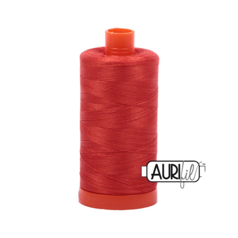 Aurifil Thread - 50wt Large Spool - 2245 Red Orange