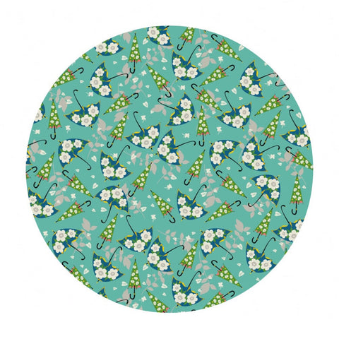 .5 meters left! - Rainy Day Blue - Caravan Collection - Blend Fabrics
