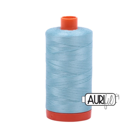 Aurifil Thread - 50wt Large Spool - 2805 Light Gray Turquoise