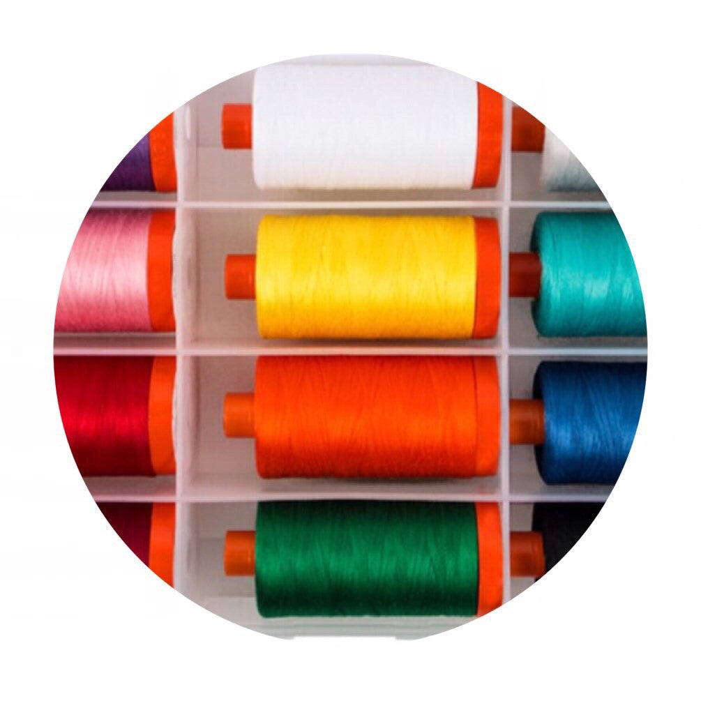 Aurifil Thread - Sew Modern Awareness Collection - 12 Large Spools Cotton 50WT