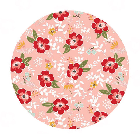 Prairie Main Coral - Sweet Prairie Collection - Riley Blake Designs
