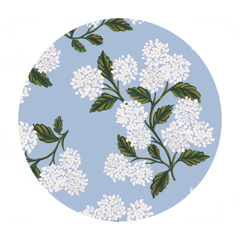 1 meter left! - Hydrangea in Light Blue Cotton Lawn - Meadow by Rifle Paper Co. - Cotton + Steel Fabrics