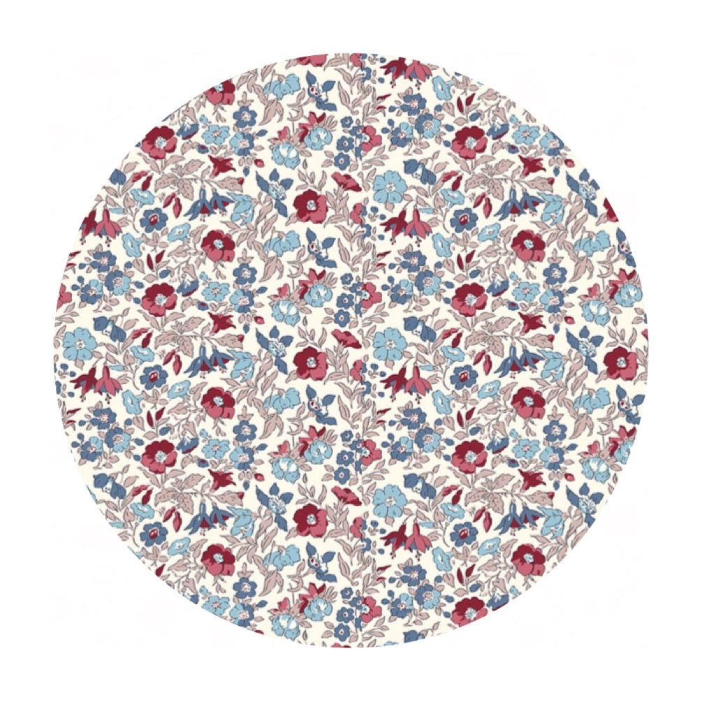 2 meters left! - Mamie in C - Winter Flower Show Collection - Liberty Fabrics
