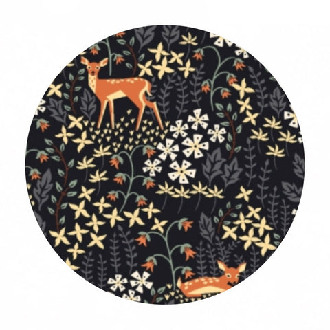 I Deer You in Phantom - Bear With Me - Dear Stella Fabrics