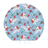 Holiday Unicorns in Blue - It's Always Unicorn Season Collection - Camelot Fabrics