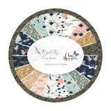 .5 meters left! - Cherry Blossoms in Teal - Mystic Cranes Collection - Camelot Fabrics