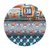 Groovin' Bus Gray - Keep on Groovin' Collection - Riley Blake Designs