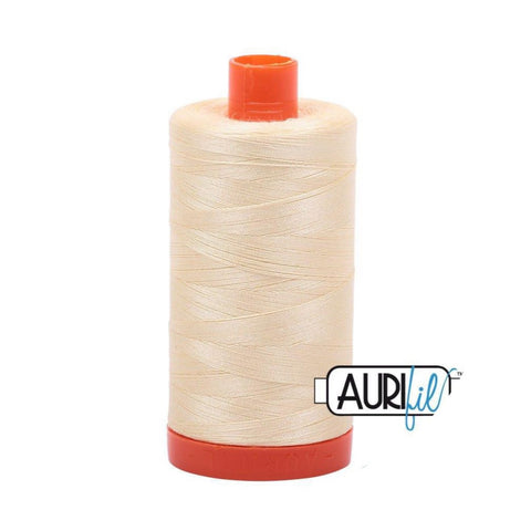 Aurifil Thread - 50wt Large Spool - 2110 Light Lemon