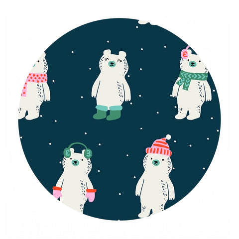 Snow Bears in Peacock - Flurry Collection - Ruby Star Society
