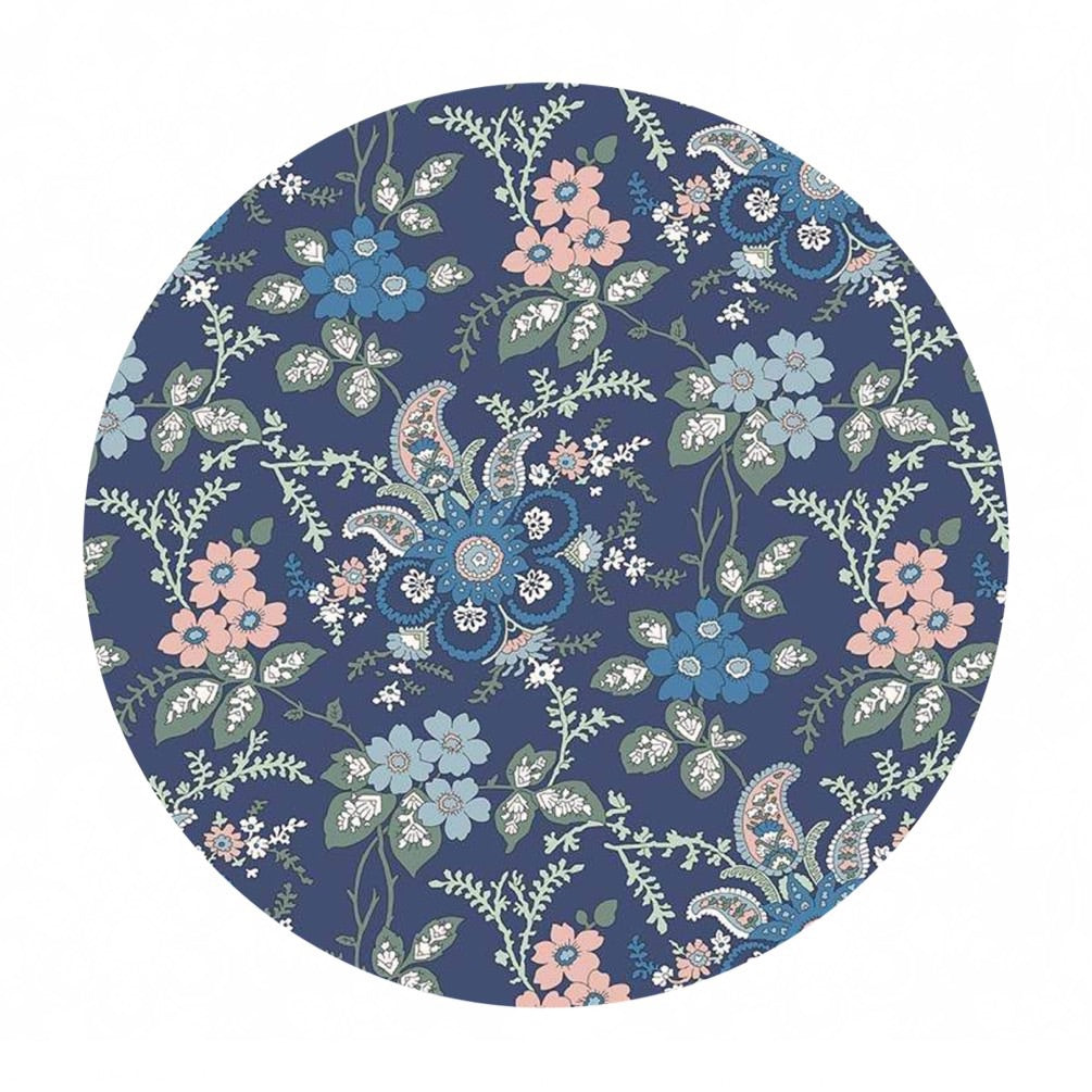 4 meters left! - Fireside in Blue - The Hesketh House Collection - Liberty Fabrics