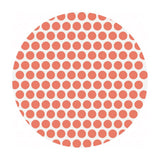 Defect Discount - .5 meters left! - Dottie Coral Organic Poplin - Birch Organic Fabrics