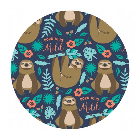 Born to Be Mild Printed Fleece - Very Punny Collection by CDS - Camelot Fabrics
