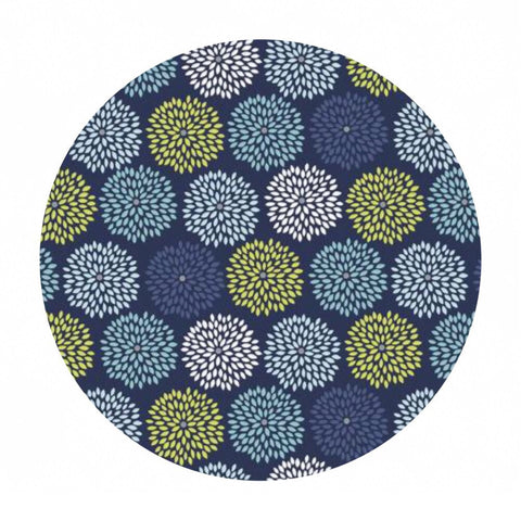 Burst in Dark Blue - Dog Gone It Collection - Camelot Fabrics