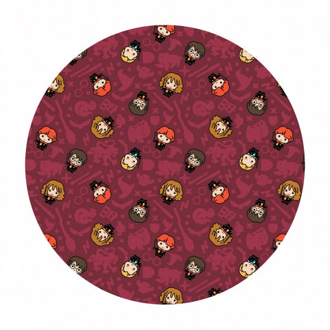 .5 meters left! - Rookie Wizards in Burgundy - Harry Potter Collection - Camelot Fabrics