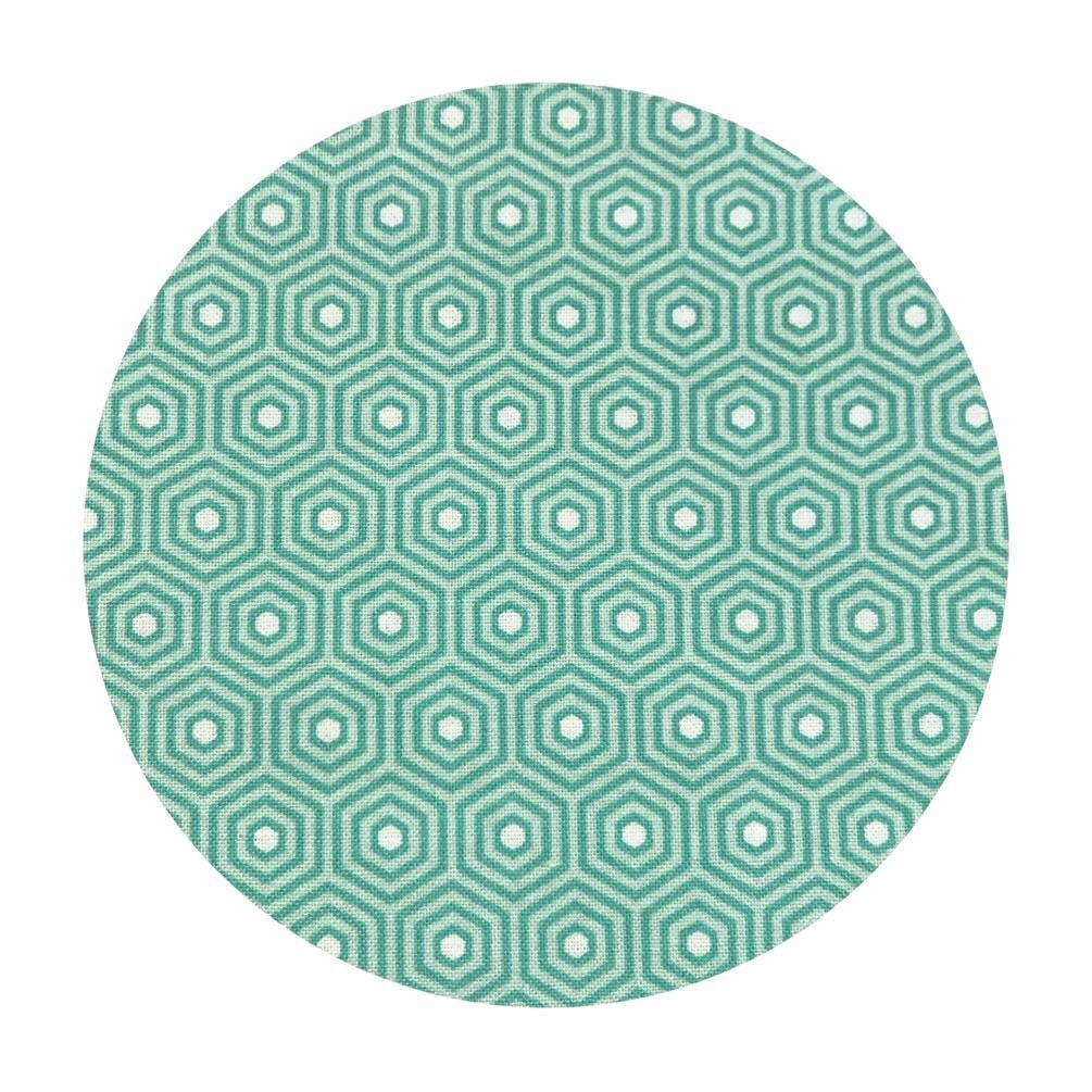 1 meters left! - Hexagon Teal - Lost & Found 2 Collection - Riley Blake Designs